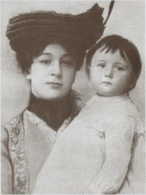 Мария Карловна Куприна-Иорданская (урожд. Давыдова) с дочерью Лидой