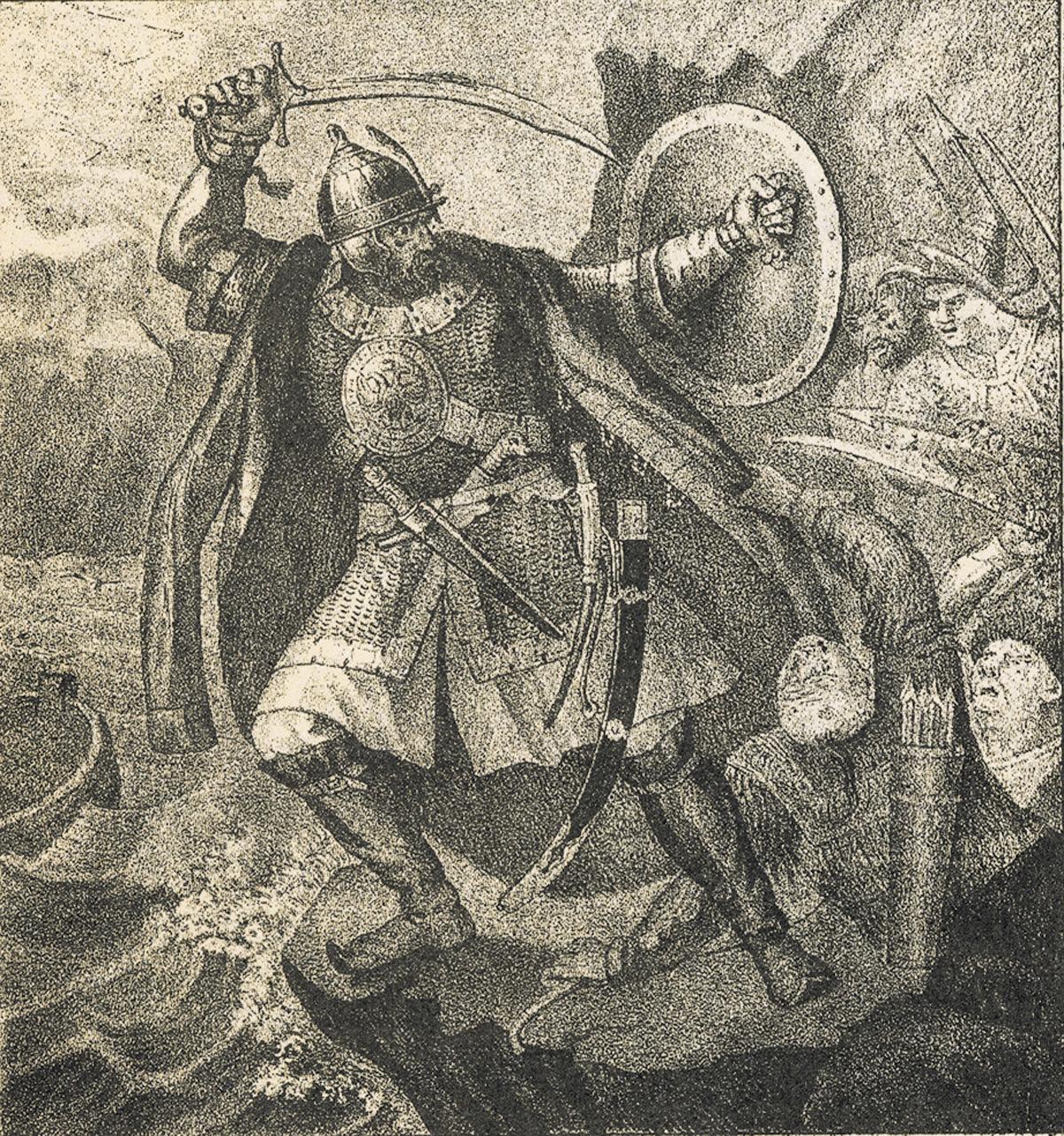 Иллюстрация к думе «Смерть Ермака»