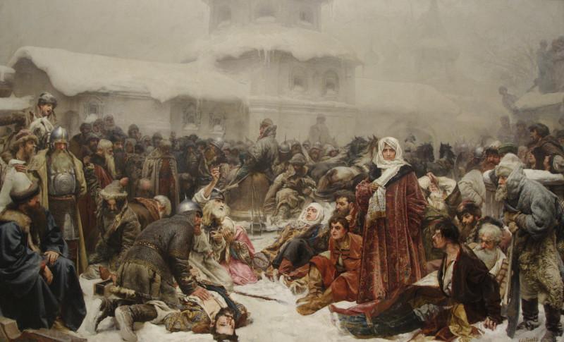 К. В. Лебедев «Марфа Посадница. Уничтожение Новгородского веча» (1889)