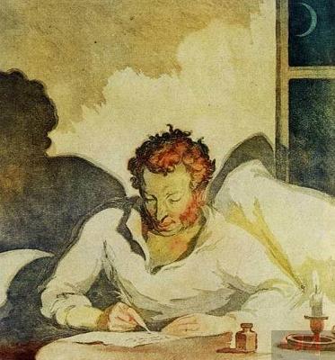 Н. И. Пискарев «Пушкин в Болдине» (1836)
