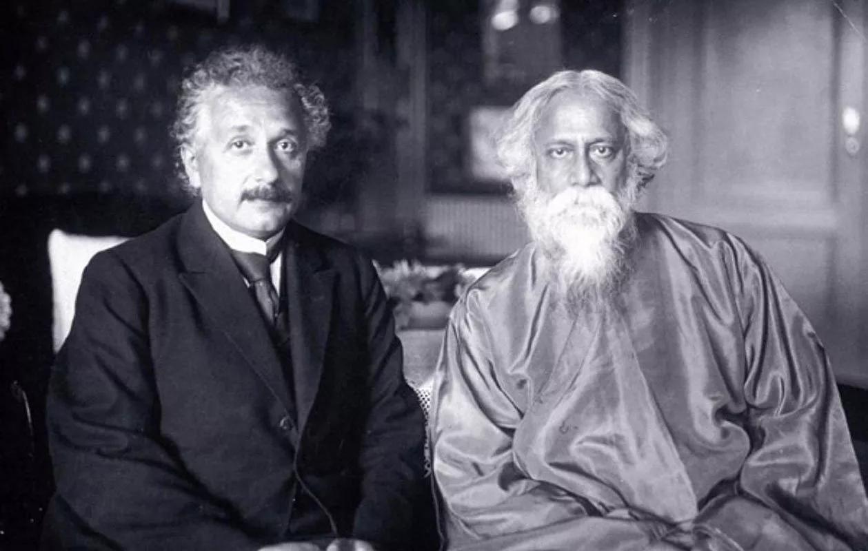 Альберт Эйнштейн и Рабидранат Тагор