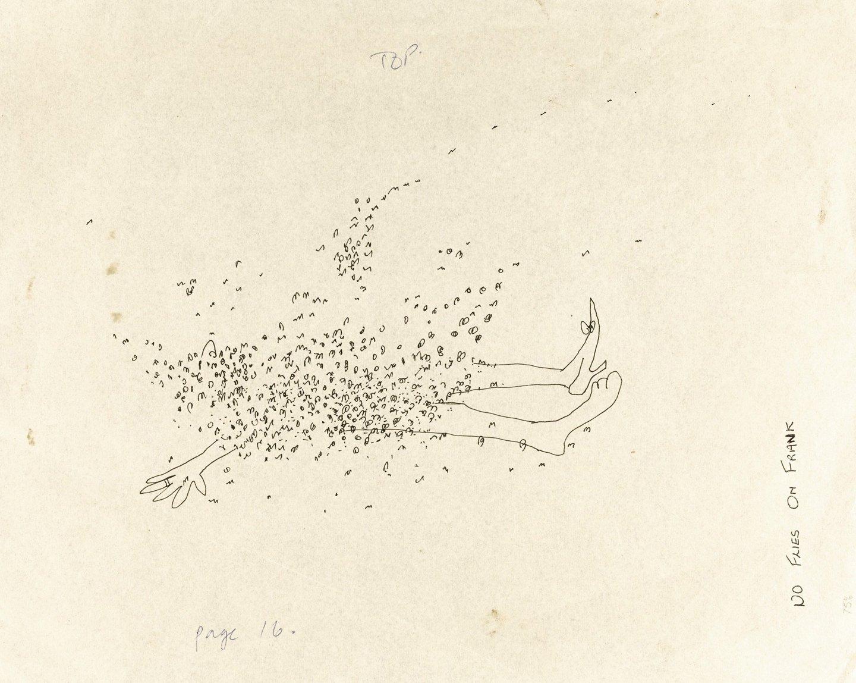 Иллюстрация Джона Леннона к рассказу «Франк не промух»