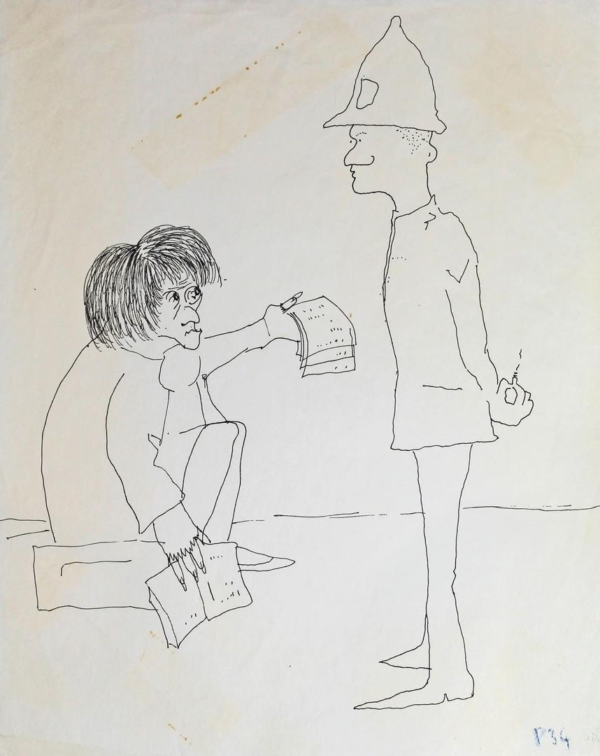 Иллюстрация Джона Леннона к рассказу «Грустный Майкл»