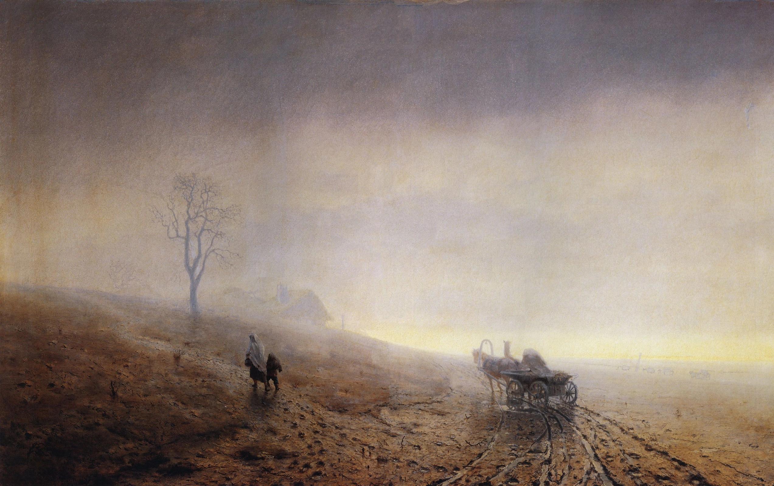Архип Куинджи «Осенняя распутица» (1872)