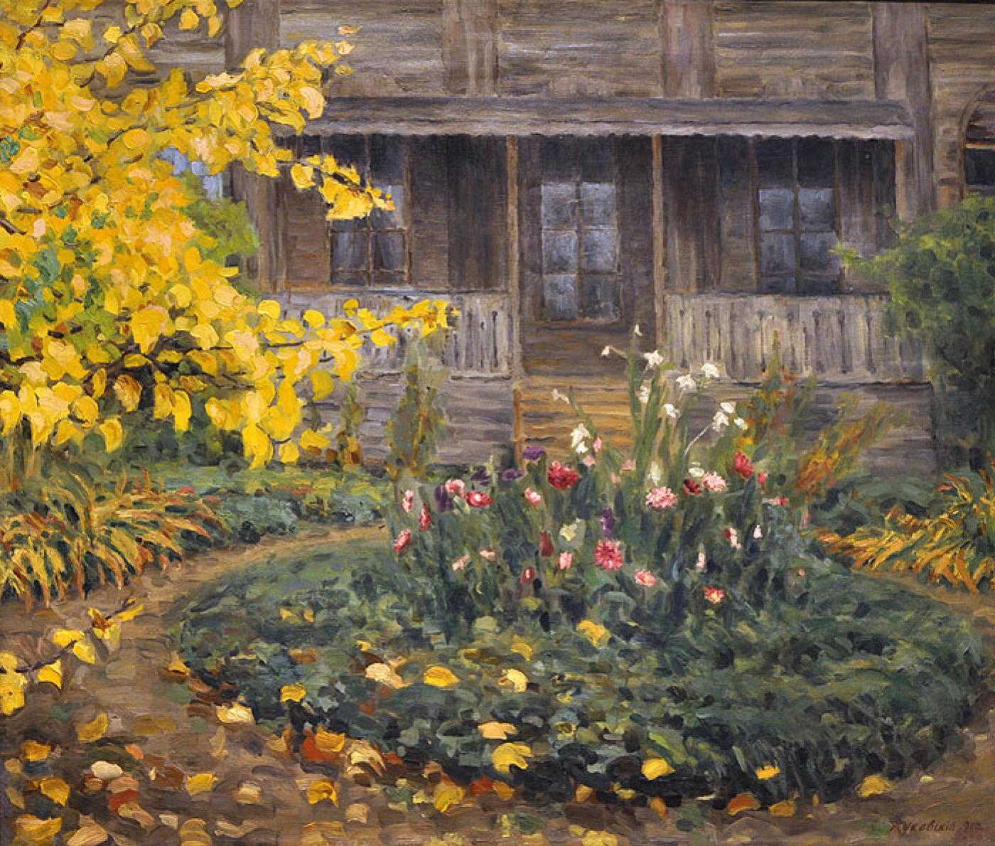 Станислав Жуковский «Осень» («Дача»), 1910
