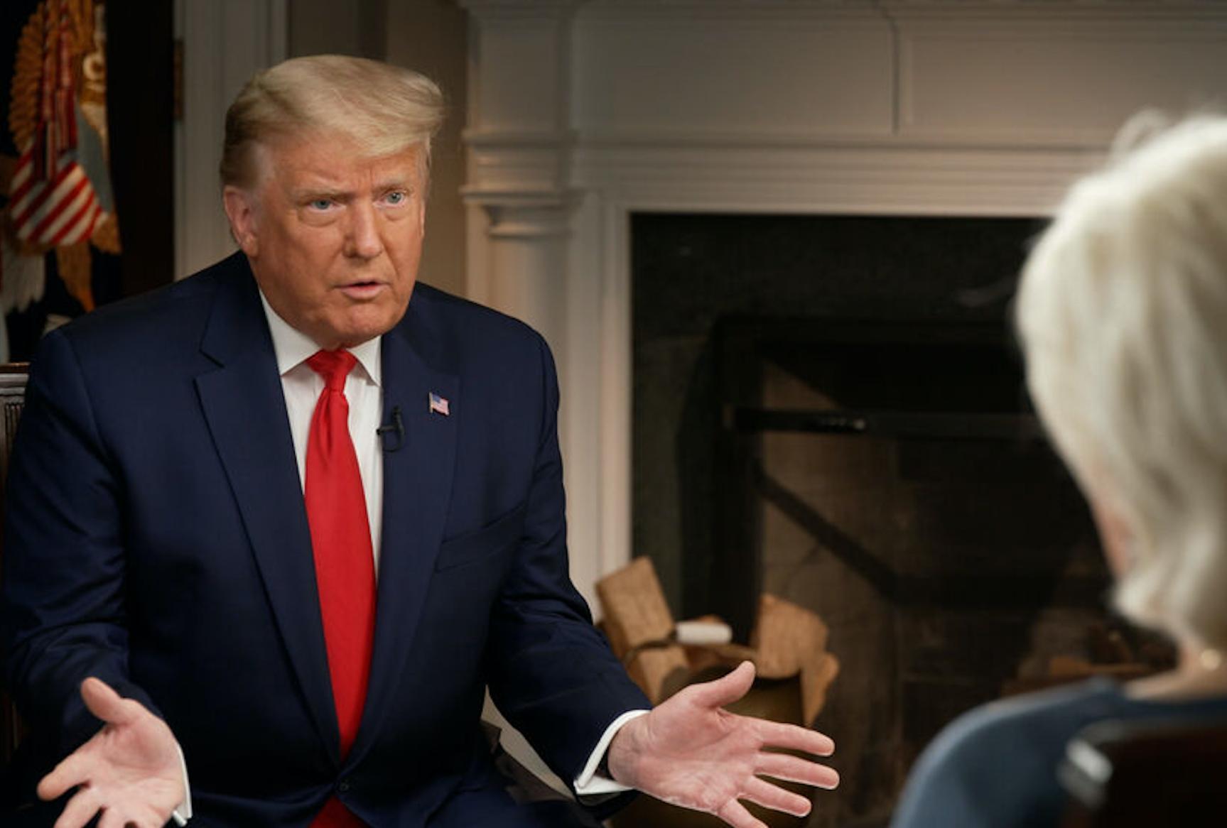 Дональд Трамп беседует с Лесли Шталь в программе «60 минут»