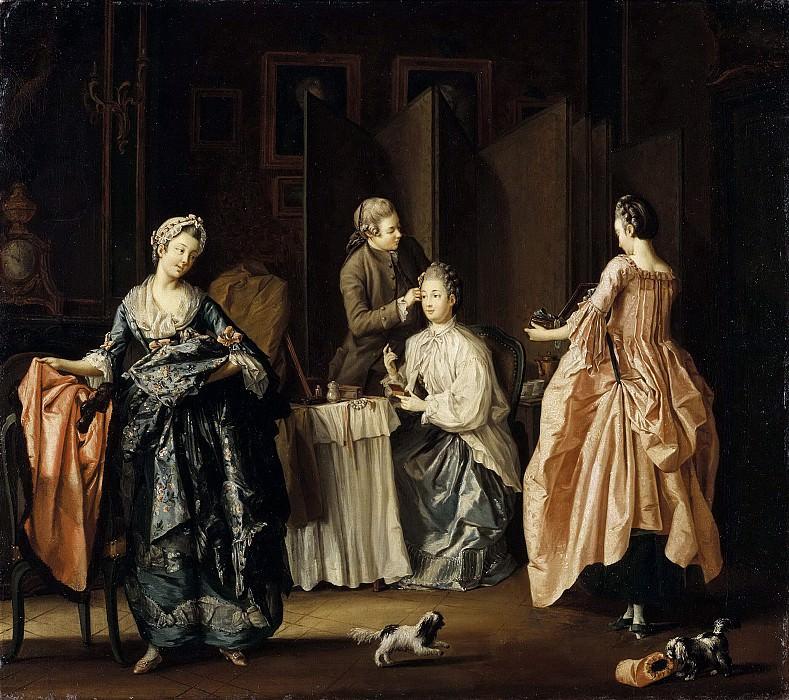 Пер Хиллестрём (1732 — 1816) «Утренний туалет. Сцена в будуаре»