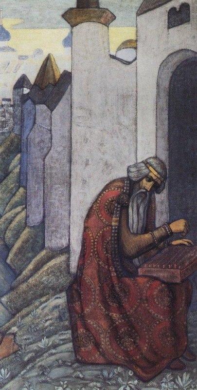 Николай Рерих «Баян» (декоративное панно из сюиты «Богатырский фриз», 1910)