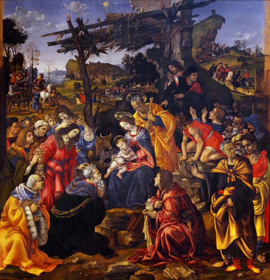Филиппино Липпи «Поклонение волхвов» (Ок. 1445)