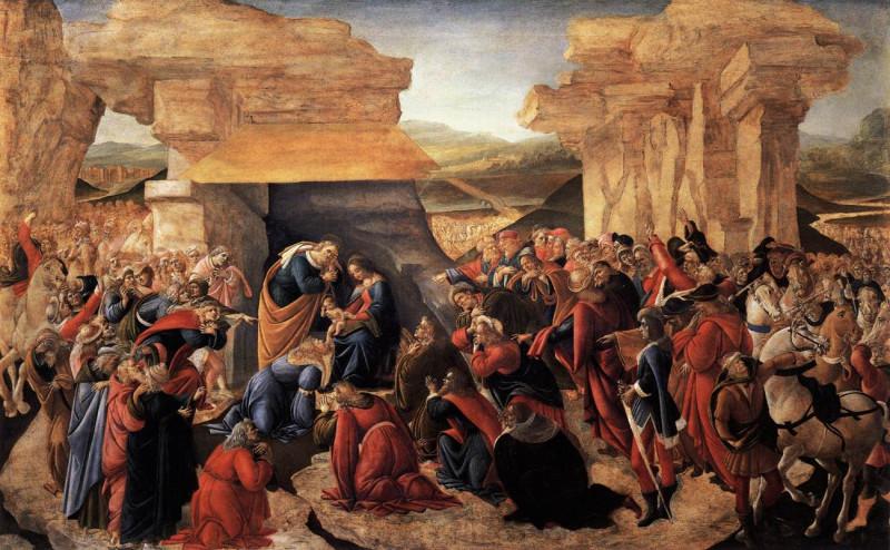 Сандро Боттичелли «Поклонение волхвов» (Ок. 1475)