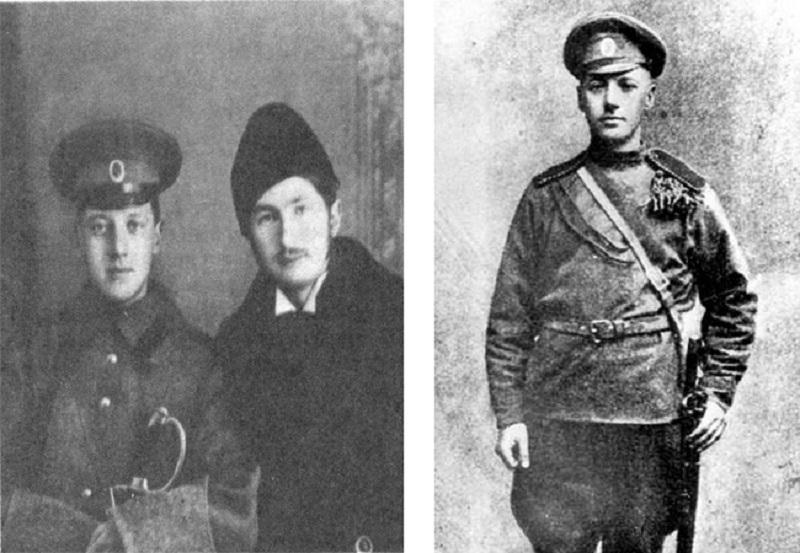 Фото слева: с поэтом Сергеем Городецким