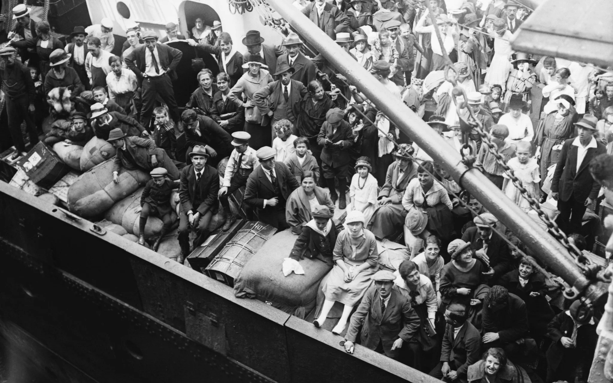 September 1920, Immigrants on Deck of the Kroonland