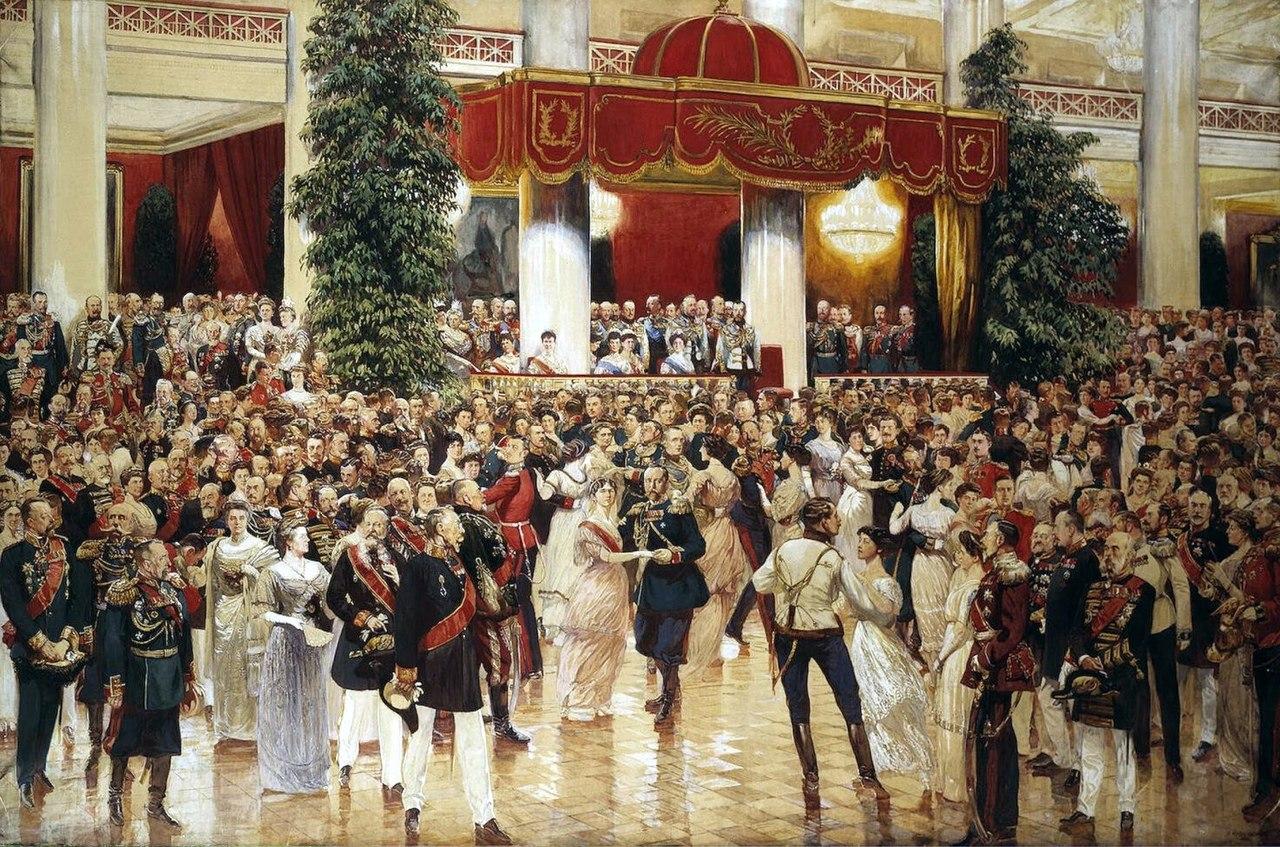 Дмитрий Кардовский «Бал в Петербургском Дворянском собрании 23 февраля 1913 года»