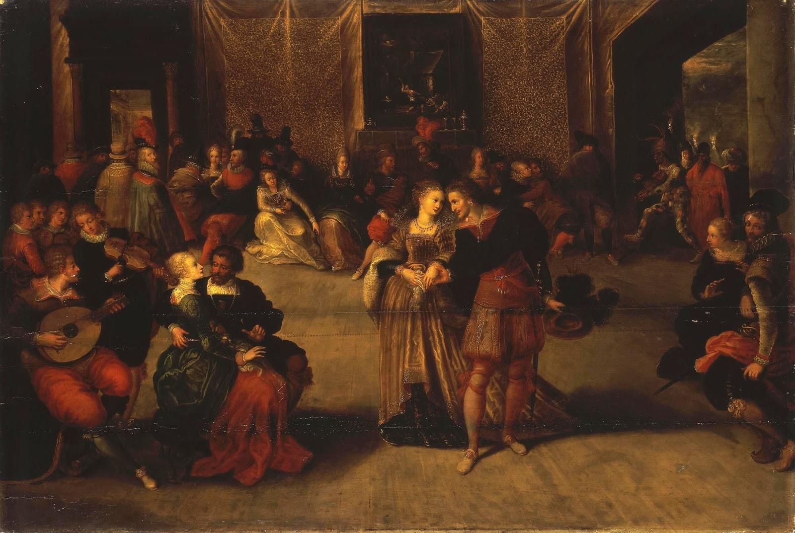 Франс Франкен Младший «Бал», 1620-е