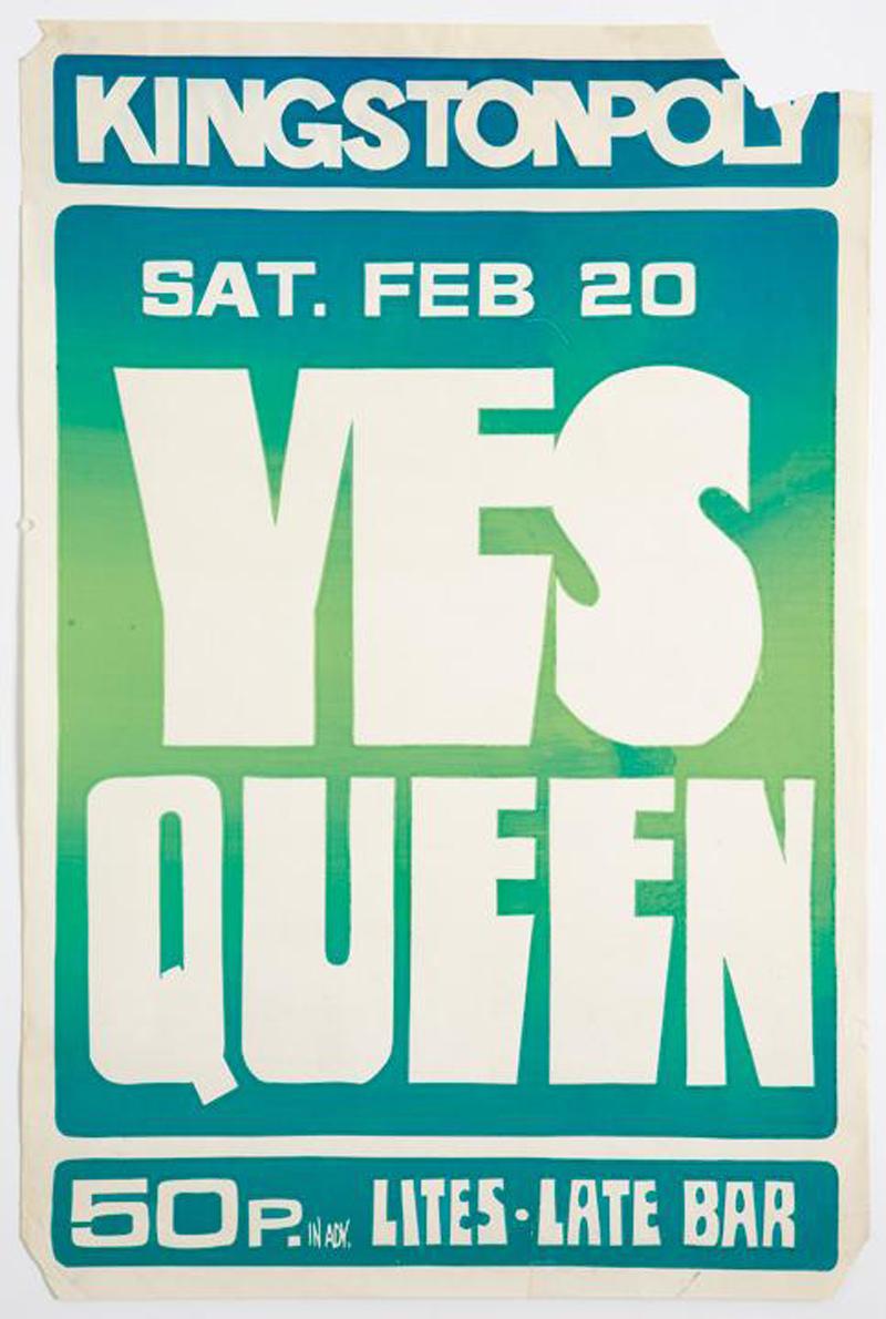 Афиша концерта Yes/Queen 20 февраля 1971 года