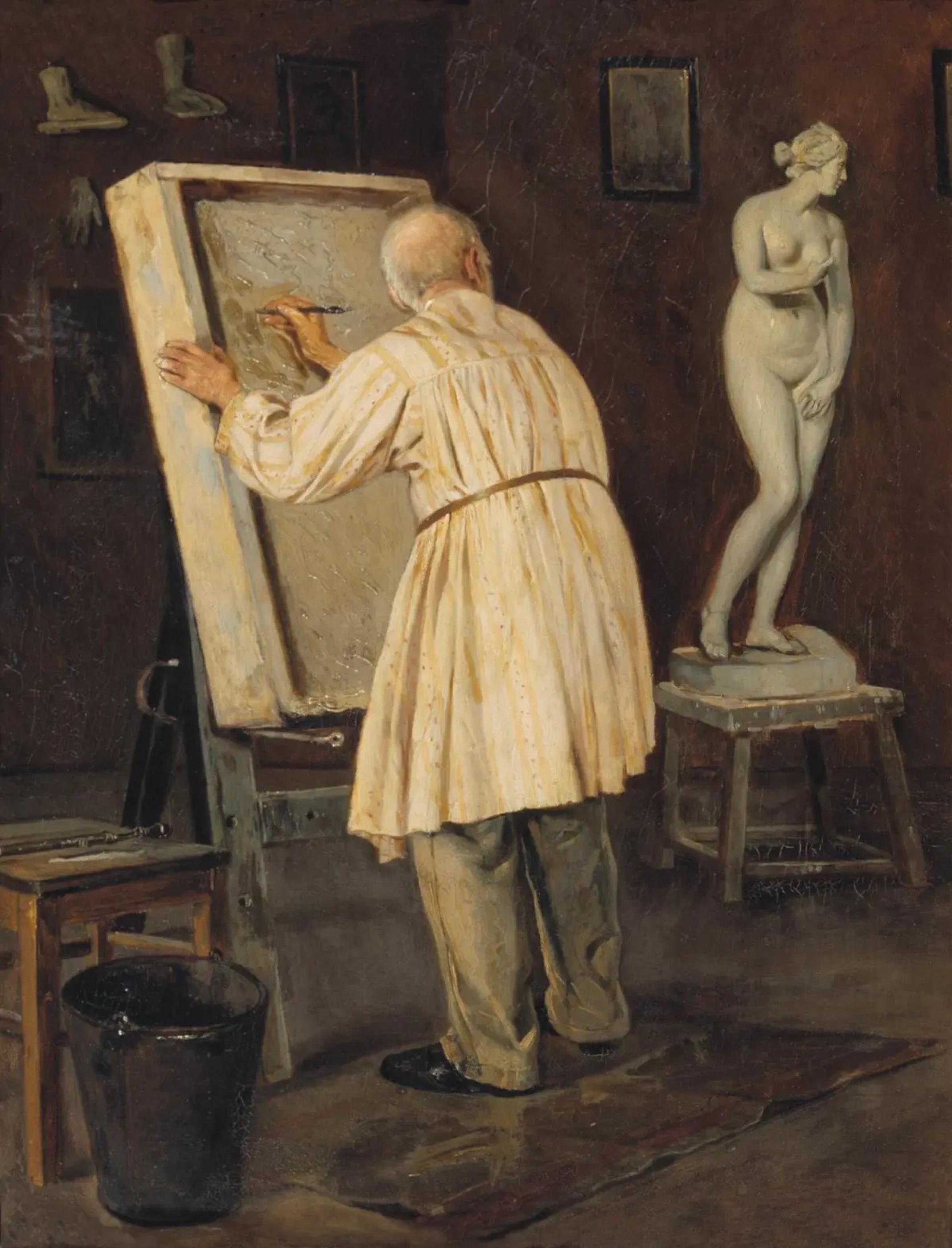 Михаил Нестеров «Старый художник» (1884)
