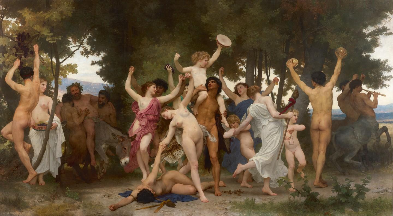 Вильям Бугро «Молодость Вакха», 1884