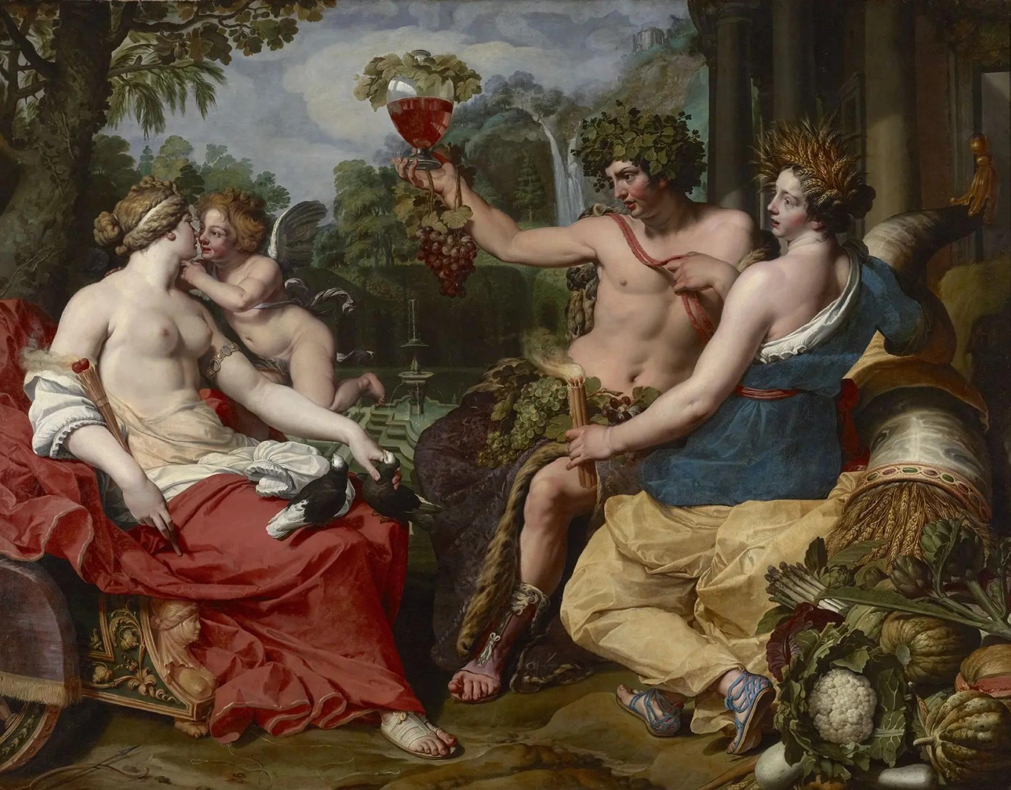Абрахам Янсенс «Венера, Бахус и Церера», 1615