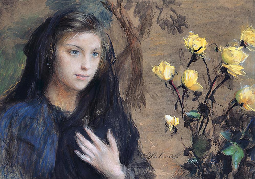 Теодор Аксентович «Девушка и розы»