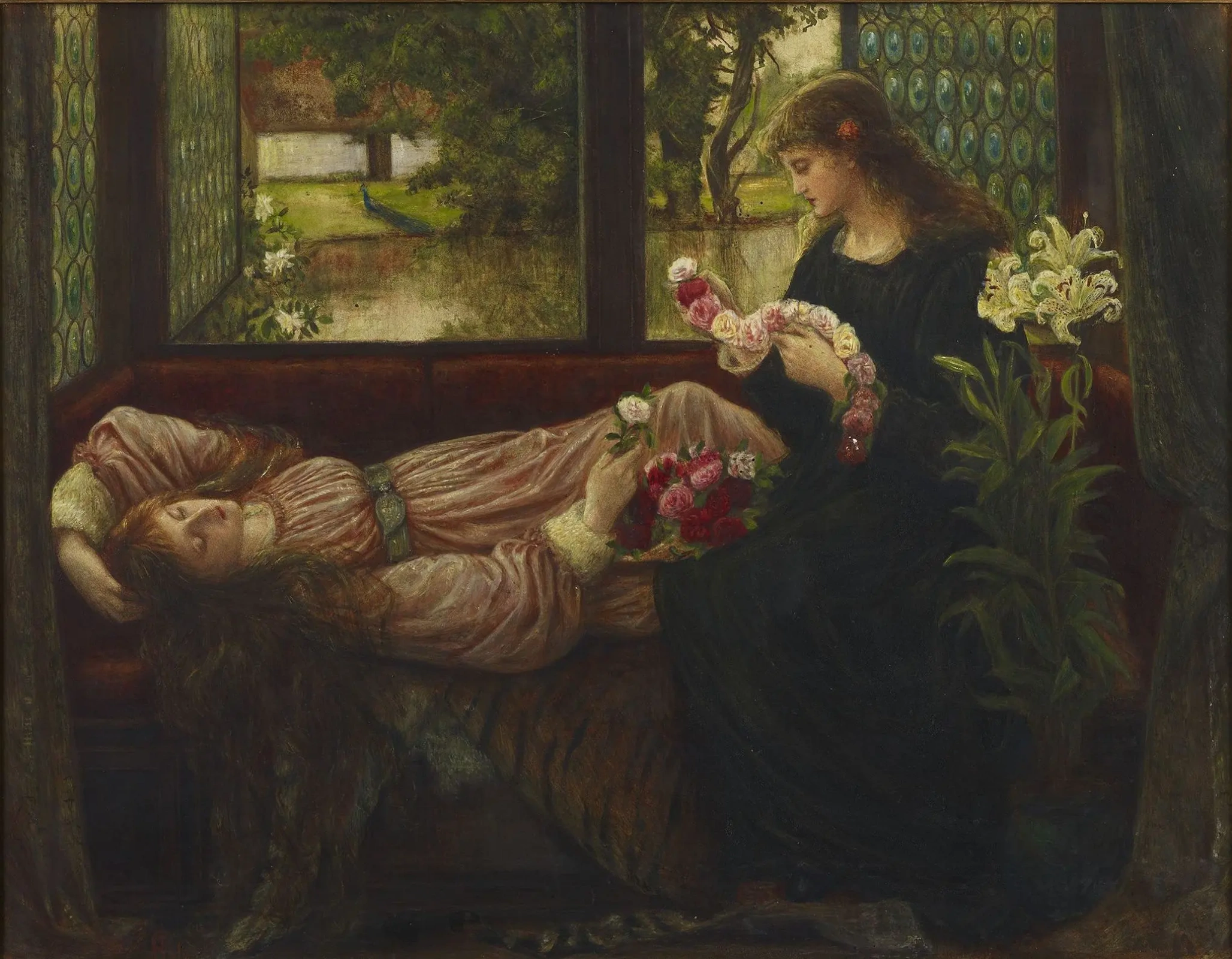 Мария Евфросина Спартали Стиллман «Венок из роз», 1880