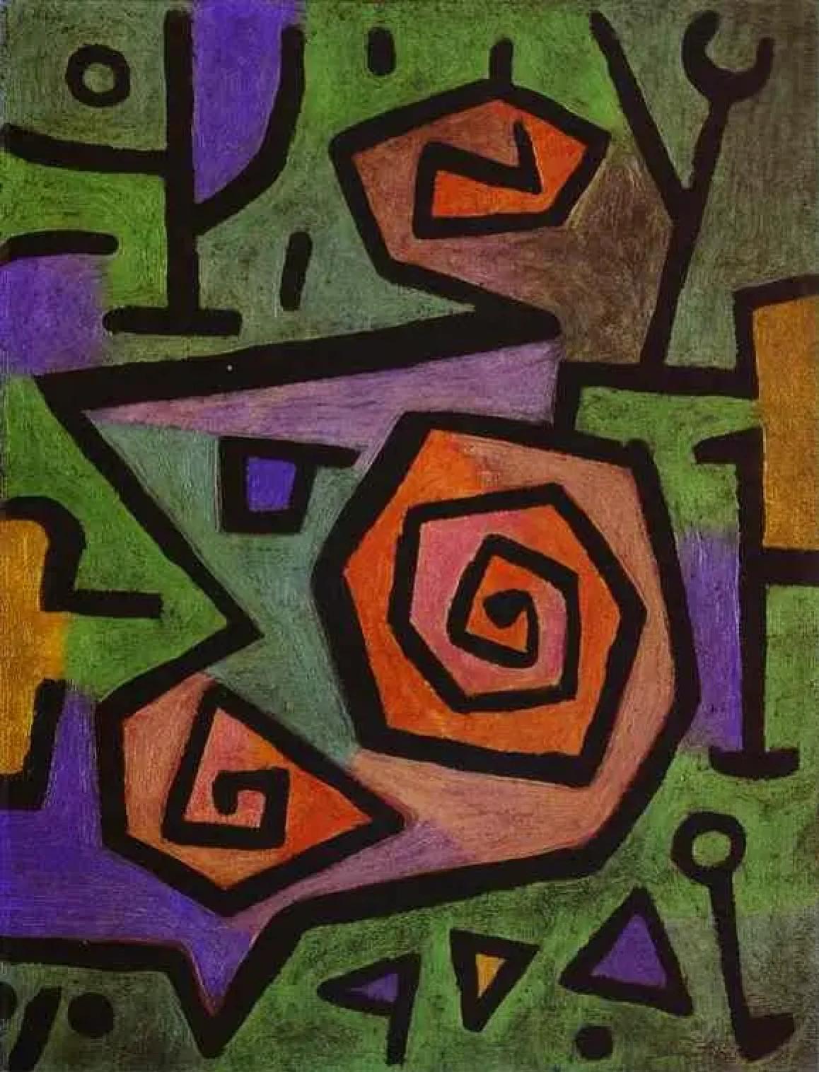 Пауль Клее «Героические розы», 1938
