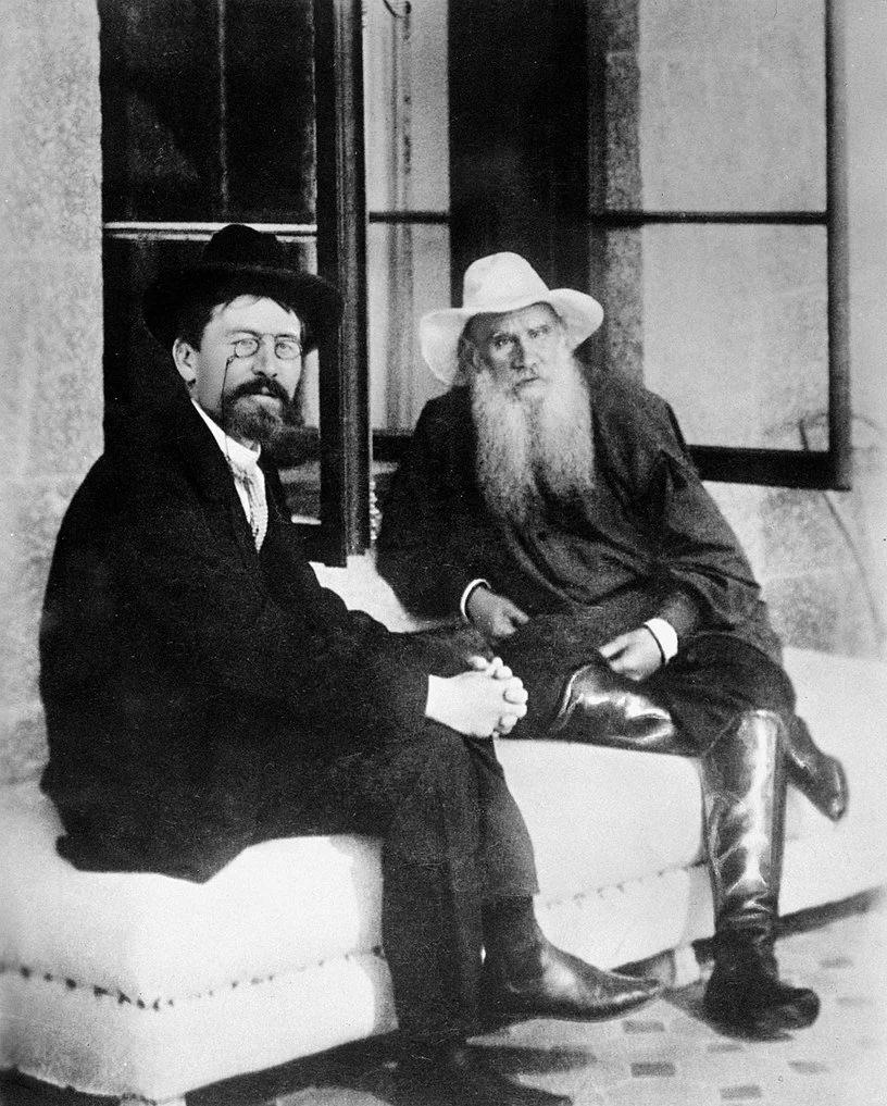 А. П. Чехов и Л. Н. Толстой в Ялте (1903)