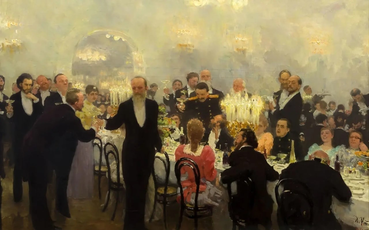 Илья Репин «Юбилейный обед» (1893)