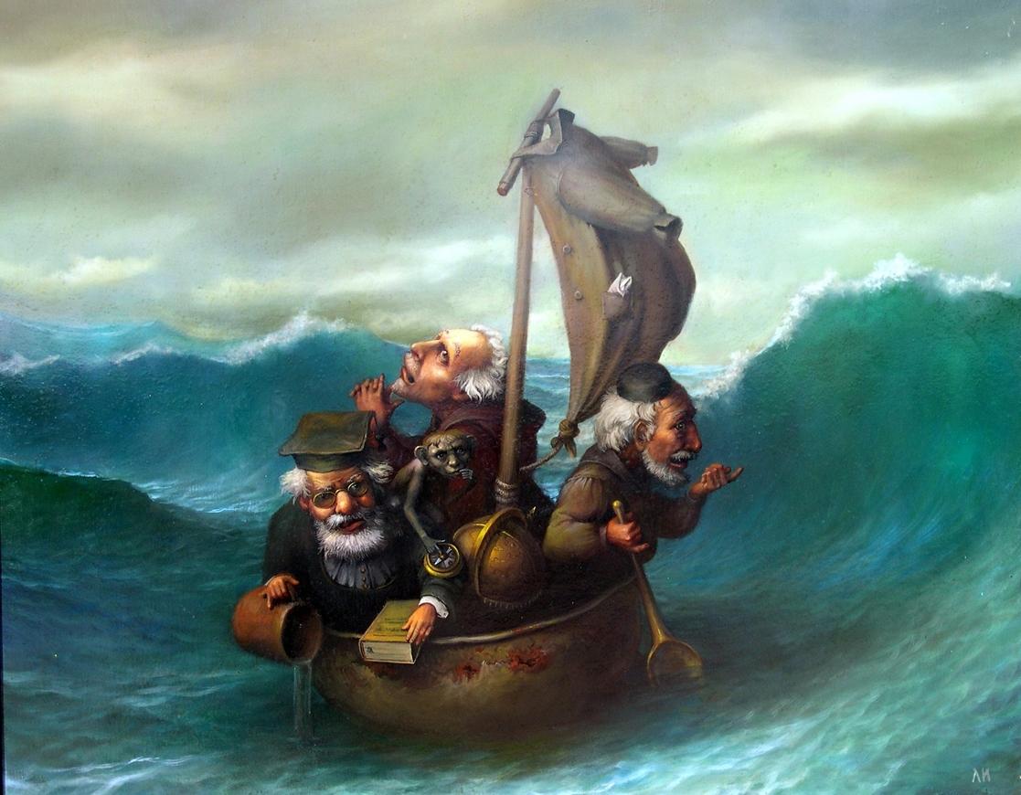Те самые «три мудреца в одном тазу» (картина Игоря Лазарева)