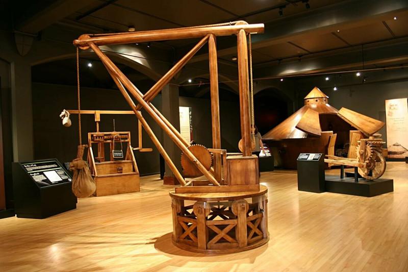Рим. Музей Леонардо да Винчи. Изобретения Леонардо да Винчи