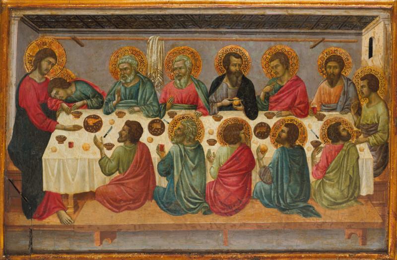 Уголино ди Нерио (Уголино да Сиена) «Тайная вечеря». Ок. 1325 — 1330 (Метрополитен-музей, Нью-Йорк)