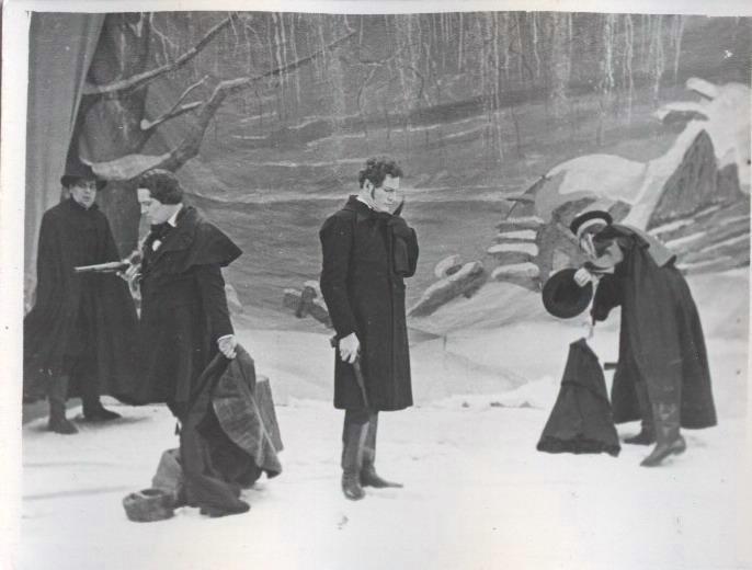 Сцена из оперы «Евгений Онегин» в Большом театре (1948 — 1952)