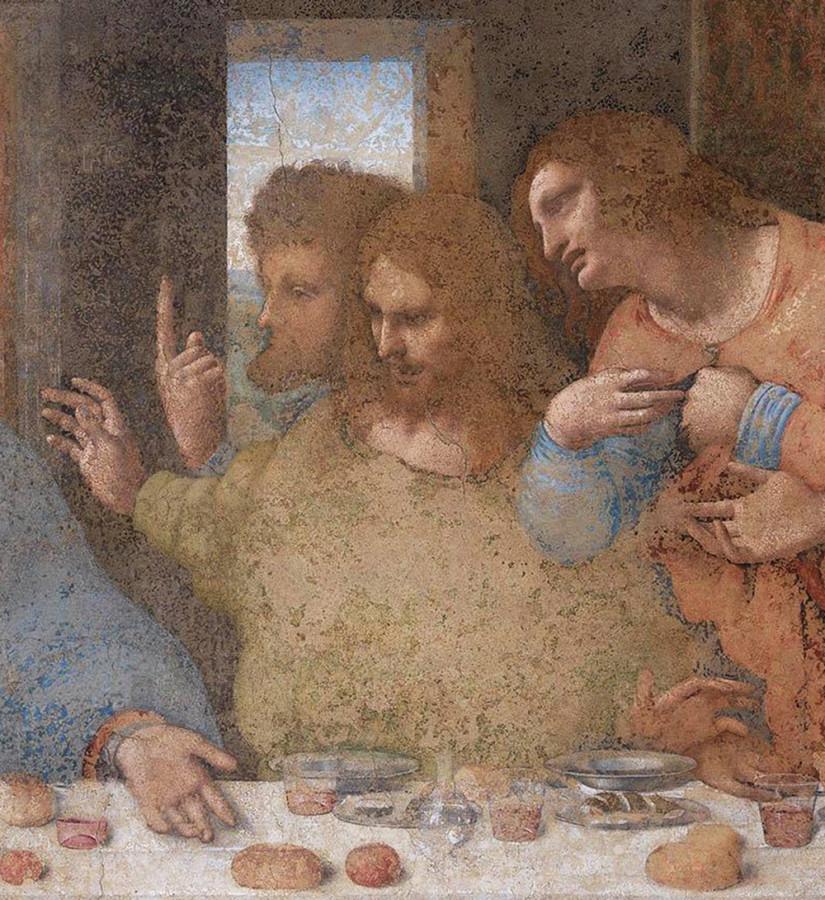 Леонардо да Винчи. «Тайная вечеря» (фрагмент)