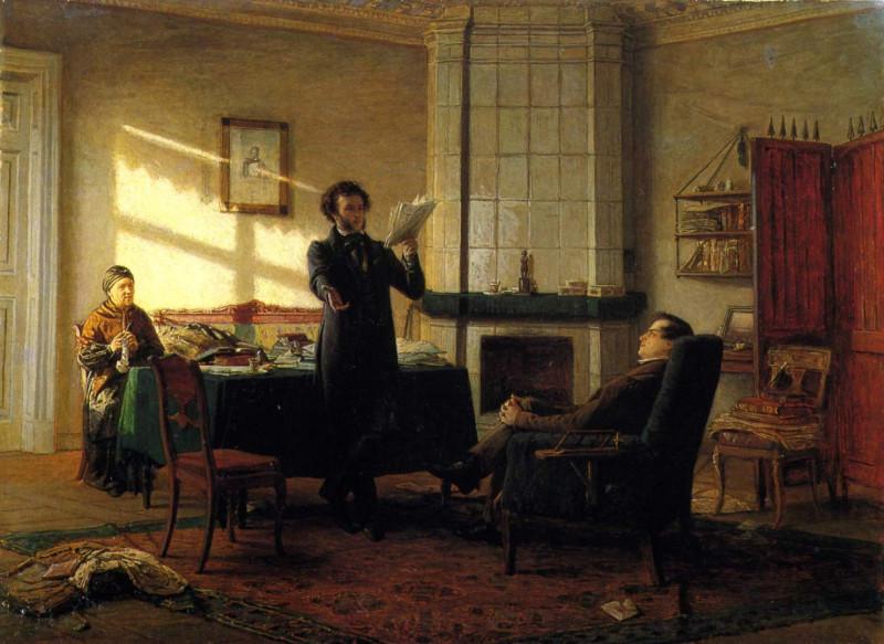 """Н. Н. Ге """"Александр Сергеевич Пушкин в селе Михайловском"""" (1875)"""
