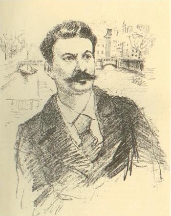 Ги де Мопассан (иллюстрация Константина Рудакова, 1936)