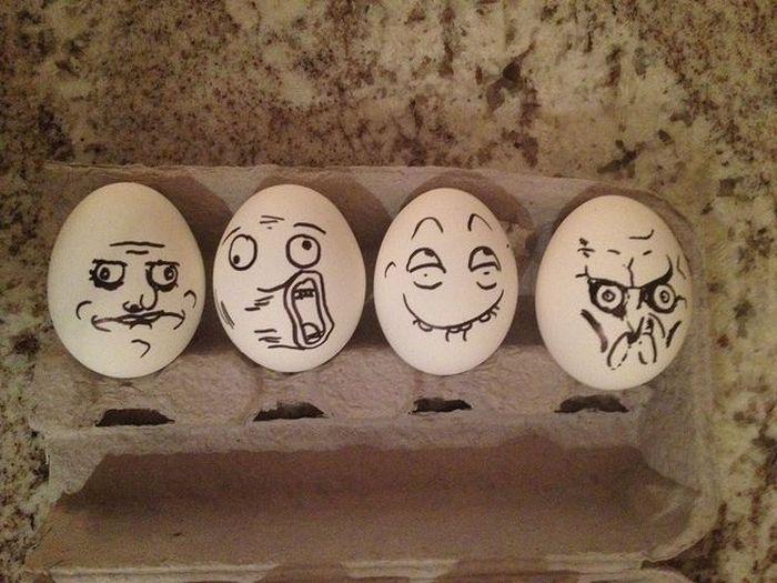 Февраля, картинки на яйцах приколы