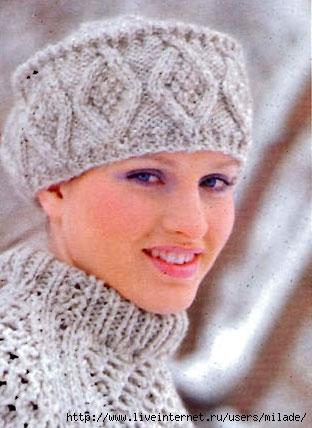 Зимняя шапка схема вязания