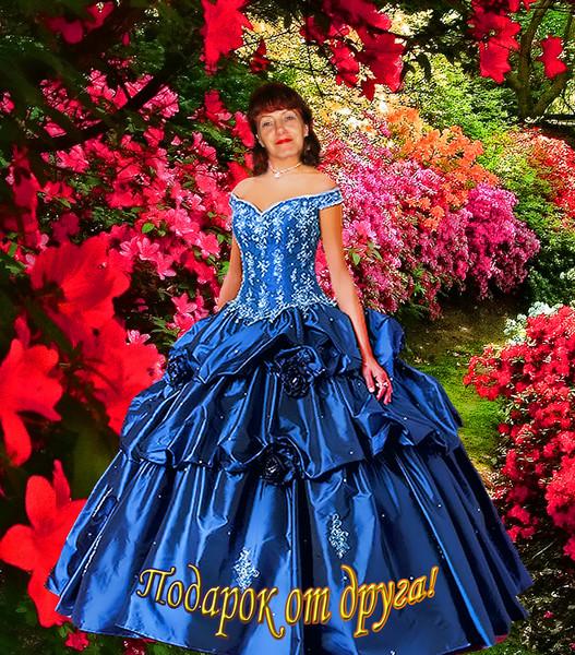 Шаблон платья для фотошопа в цветах