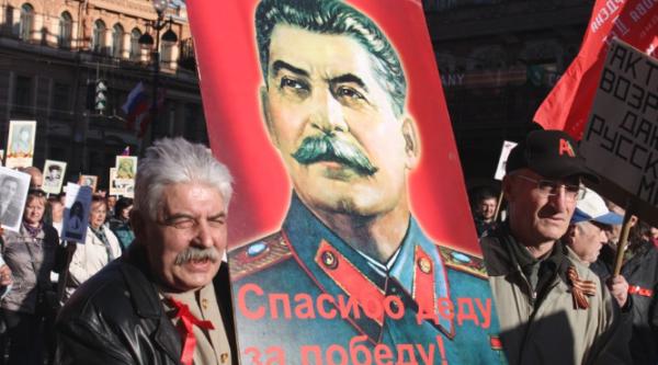 Портрет Сталина в шествии Бессмертного полка. ОПРОС
