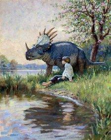мальчик и динозавр