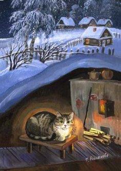 зимой на даче