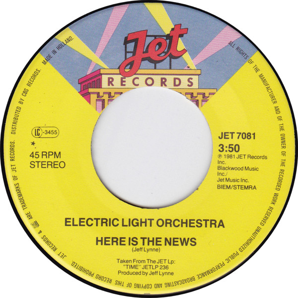 Electric Light Orchestra (ELO) - Here Is the News side 1.jpg