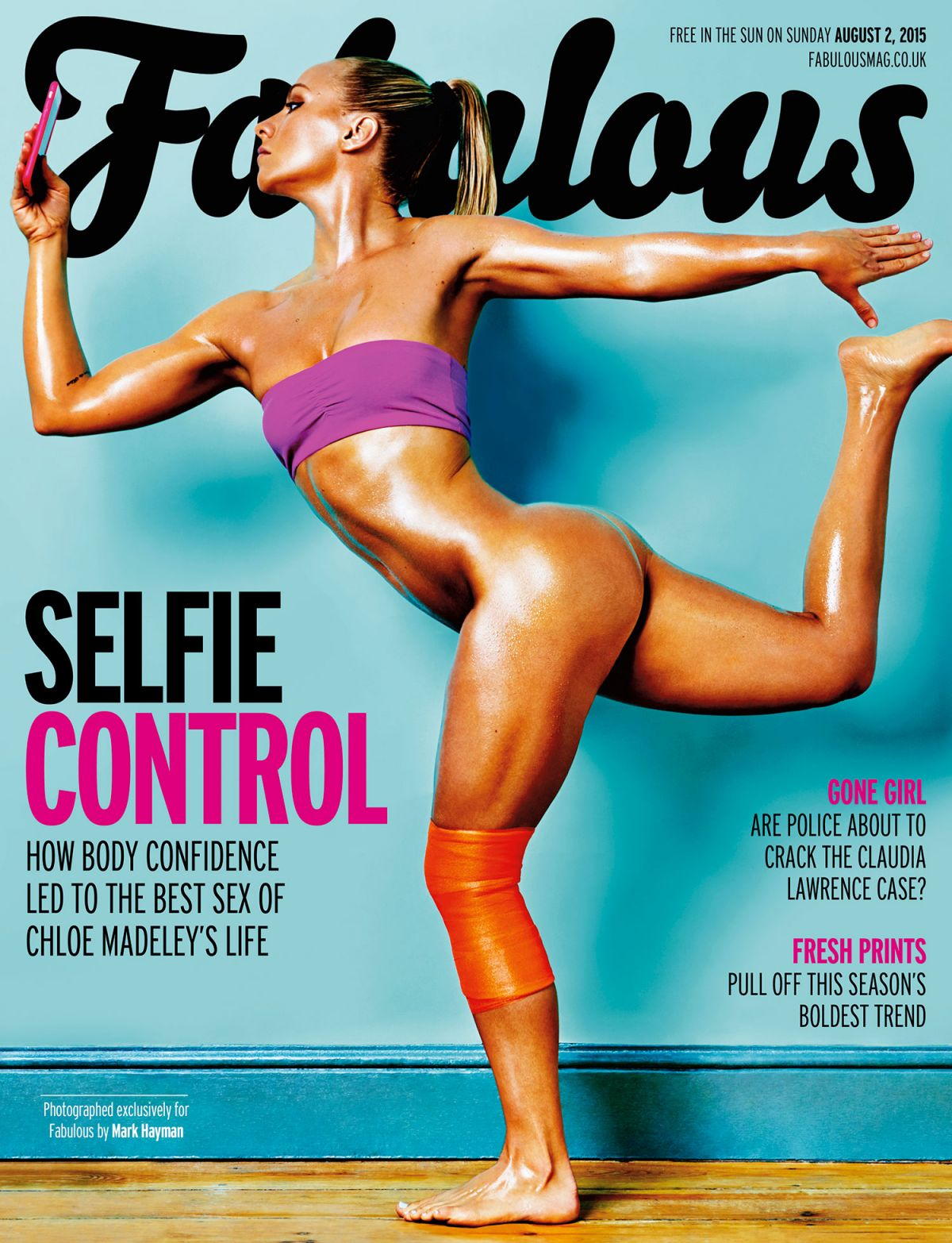 CHLOE MADELEY на обложке журнала Fabulous, август 2015 года.jpg