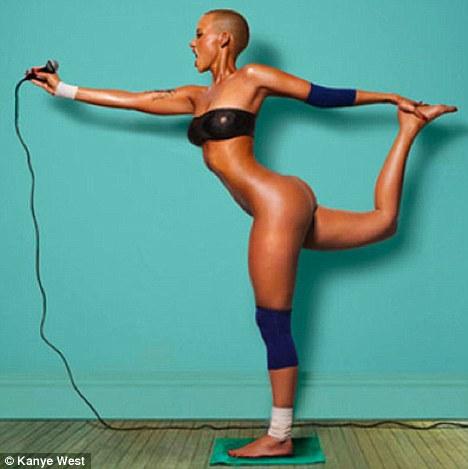 Как делали обложки пластинок, когда фотошопа ещё не было Kanye West's girlfriend Amber Rose 2010.jpg
