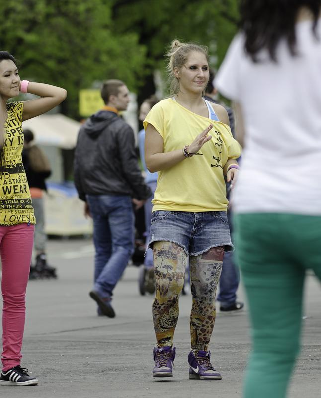 День танца в парке горького