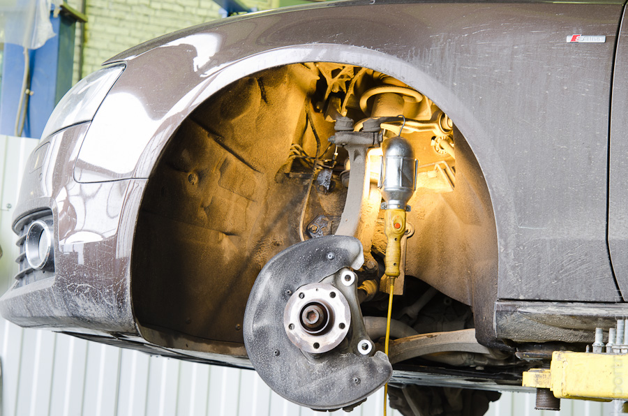 Установка тромозов ksportracing на Audi A5