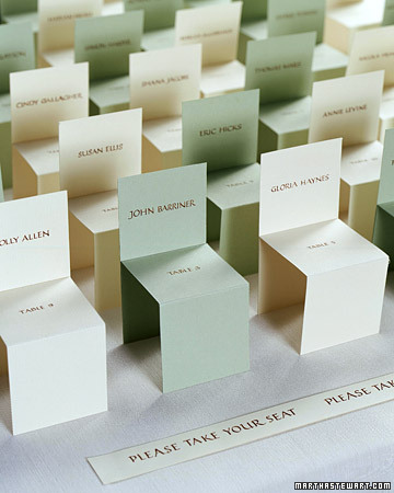 Ideal escort card, once we have the seat plan.