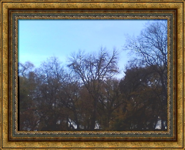 Осеннее небо на Черниговском Валу
