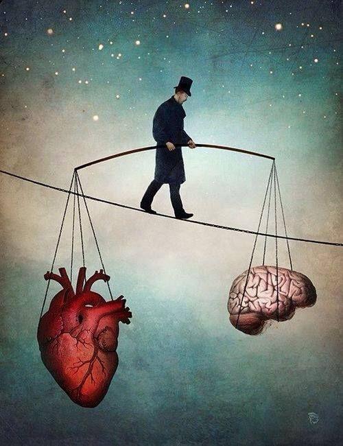 «Ум и сердце», Кристиан Склое, цифровая живопись, сюрреализм, XXI век.