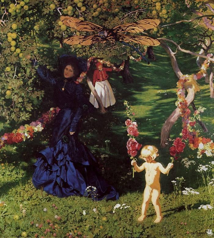 «Удивительный сад», Юзеф Мехоффер, живопись, 1903 г.