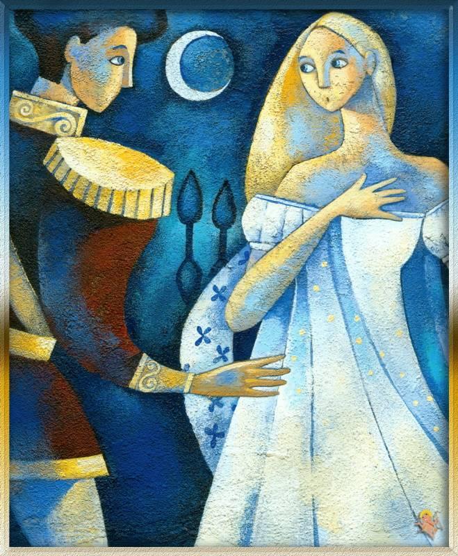 «Принц Зигфрид говорит с Одеттой», Алида Массари